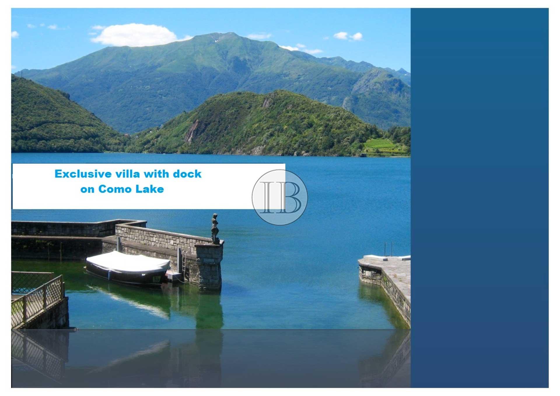 Exclusive villa with dock on Como Lake