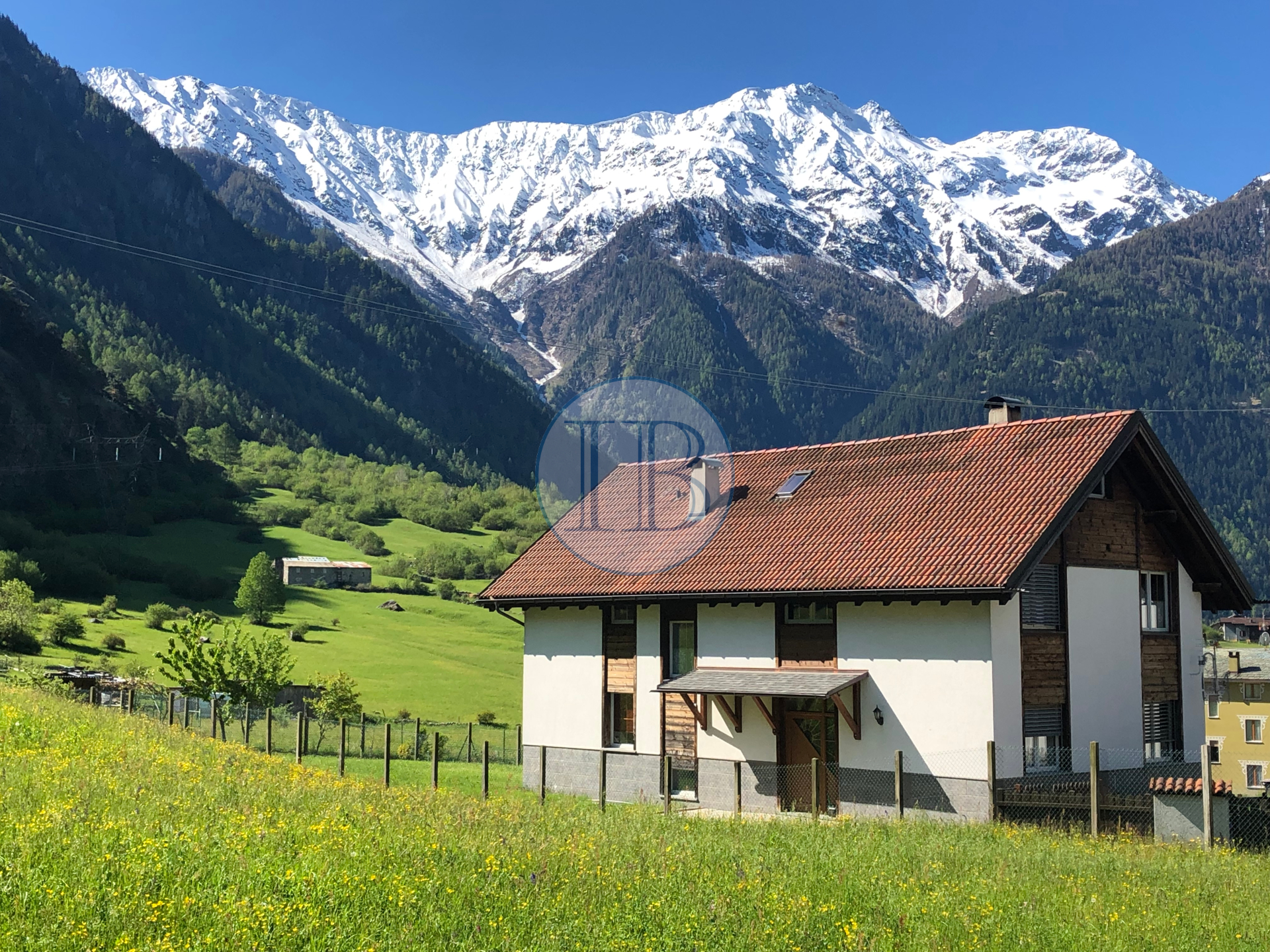 Villa surrounded by green near Bormio